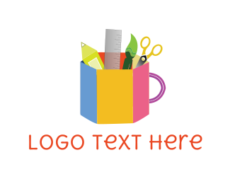 School - School Supplies logo design