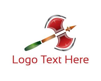 Chop - Double Axe logo design