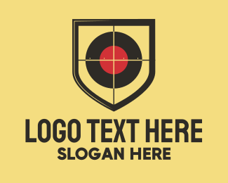 Paintball - Shooting Shield logo design