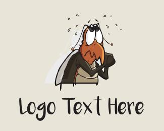 Mosquito - Cockroach Cartoon logo design