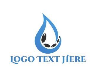 Droplet - Drop & Pebbles logo design
