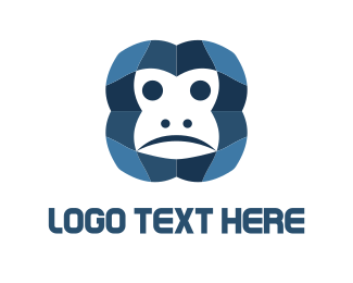 Pain - Monkey Face logo design