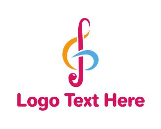 Band - Colorful G Clef logo design