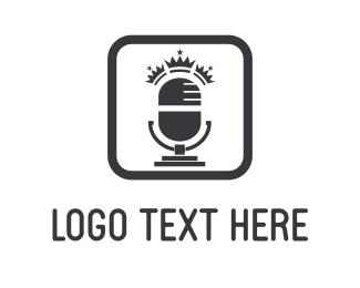 Singer - King Radio logo design