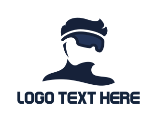 Pro - Modern VR Pro logo design