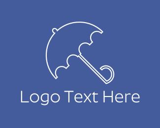Umbrella - Blue Umbrella logo design