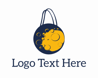 Shop - Moon Shopping logo design