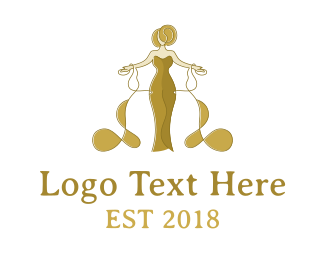 Dress - Golden Queen logo design