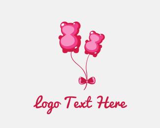 Balloon - Candy Bear Balloon logo design