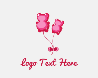 Candy - Candy Bear Balloon logo design