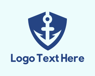 Sea - Anchor Shield logo design