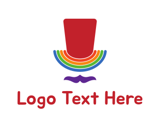 Lgbt - Rainbow Man logo design