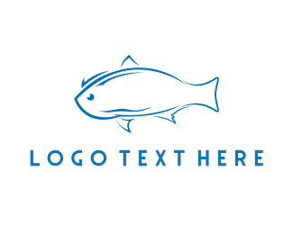 Fish - Blue Fish logo design