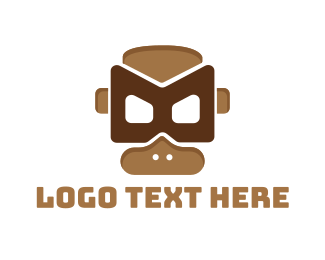 Mask - Monkey Mask  logo design