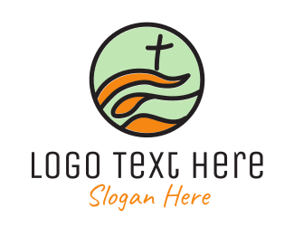 Crucifix - Modern Church logo design