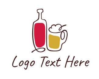 Beverage - Beer & Wine logo design