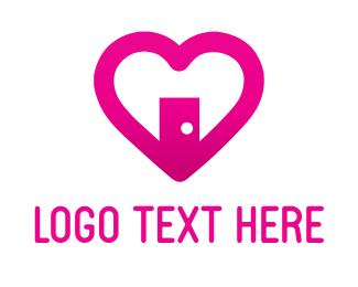 Porn - Love Door logo design