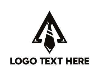 Businessman - Black Triangle Tie logo design