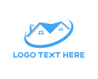 Realty - Blue House Ring logo design