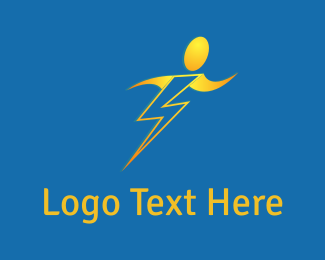 Thunder - Human Bolt logo design