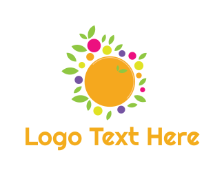 Fruit - Orange Fruit logo design