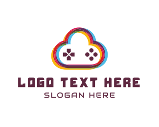 Joystick - Game Cloud logo design