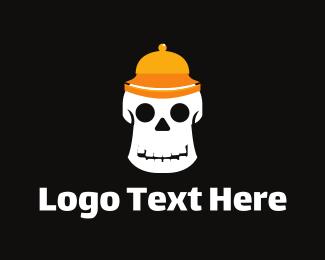 Halloween - Bellboy Skull logo design