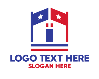 Politics - Patriotic Town Hall logo design