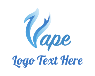 Trend - Blue Smoke Vape logo design