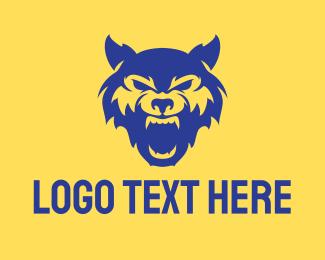 Roar - Wild Blue Wolf logo design
