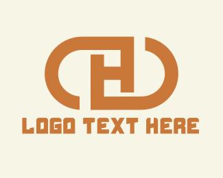 Initial - Letter H Capsule logo design
