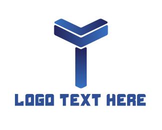 Shape - Modern Shape T logo design