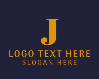Fortune - Gold J logo design