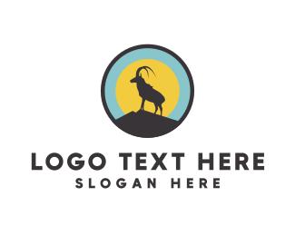 Moose - Goat Circle logo design