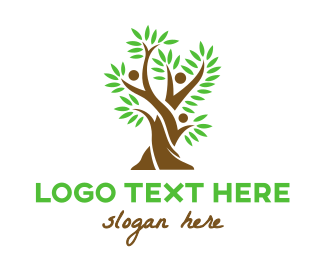 Parenthood - Tree Fern People logo design
