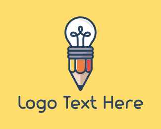 Copywriter - Pencil Bulb logo design