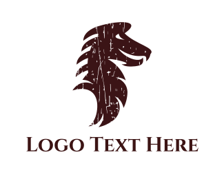 Chinese - Brown Dragon logo design