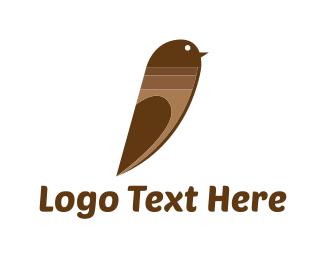 Courier - Choco Bird logo design