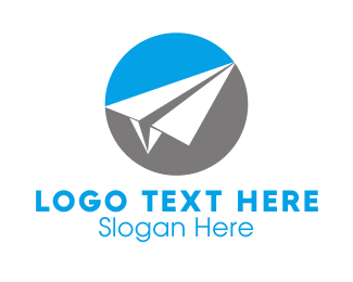 Airplane - Paper Airplane logo design