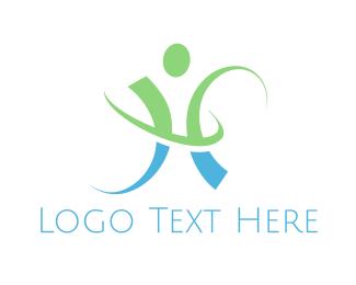 Man - Human Letter H logo design