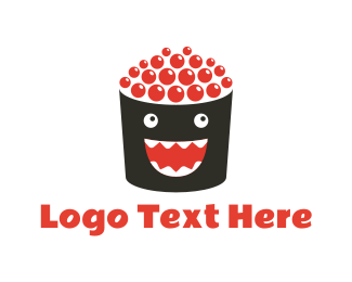 Sushi - Happy Roll logo design