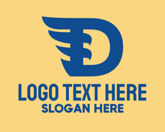 Aviary - Blue D Wing logo design