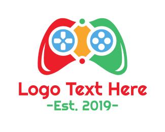 Arcade - Colorful Controller logo design