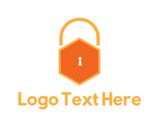 Security - Honey Hive Padlock logo design
