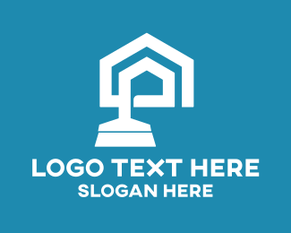 Blue And White - Home Cleaner logo design