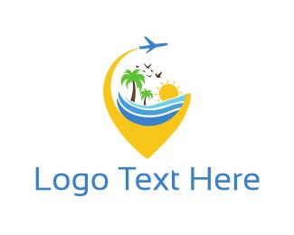 Tour - Travel Pin logo design
