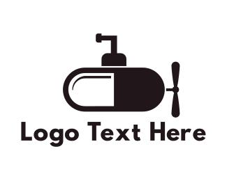 Pharmaceutical - Submarine Capsule logo design