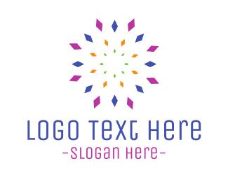 Explosion - Geometric Dandelion logo design