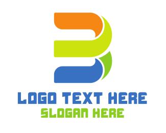 Artistic - Colorful Cursive B logo design
