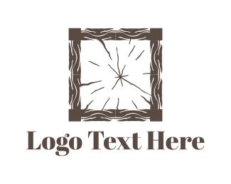Carpenter - Wood Square logo design